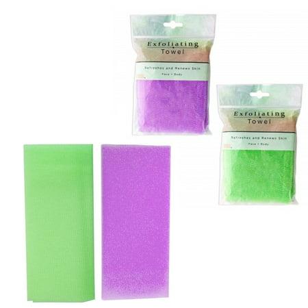 1 Beauty Skin Cloth Exfoliating Nylon Shower Bath Body Towel Wash Scrub