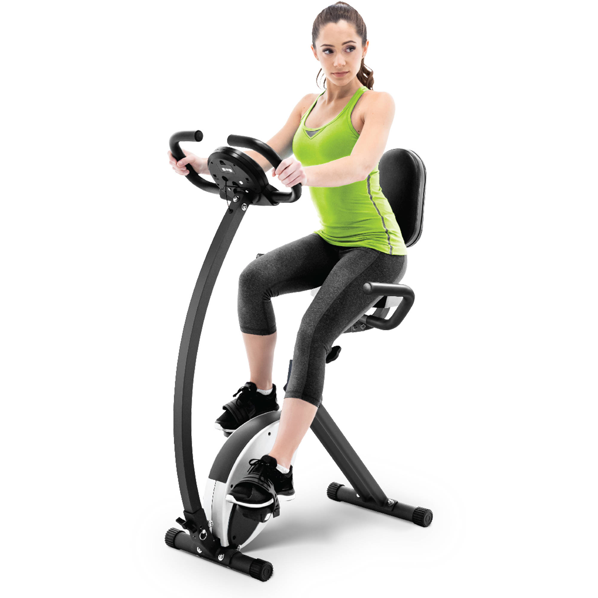 Marcy NS-653 Foldable Recumbent Exercise Bike with Magnetic Resistance