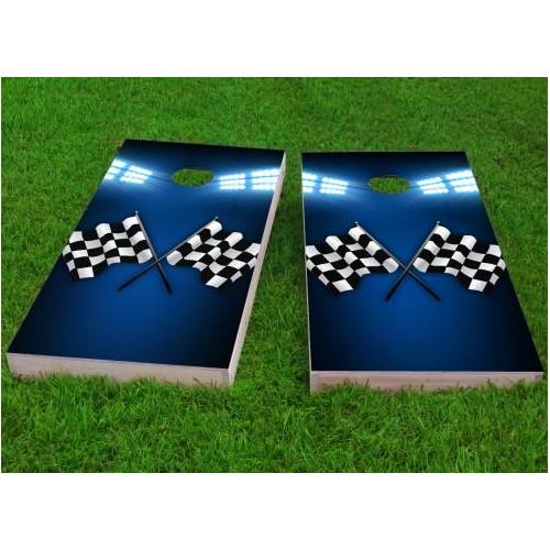 Click here to buy Custom Cornhole Boards Checkered Flag Cornhole Game (Set of 2) by Custom Cornhole Boards.