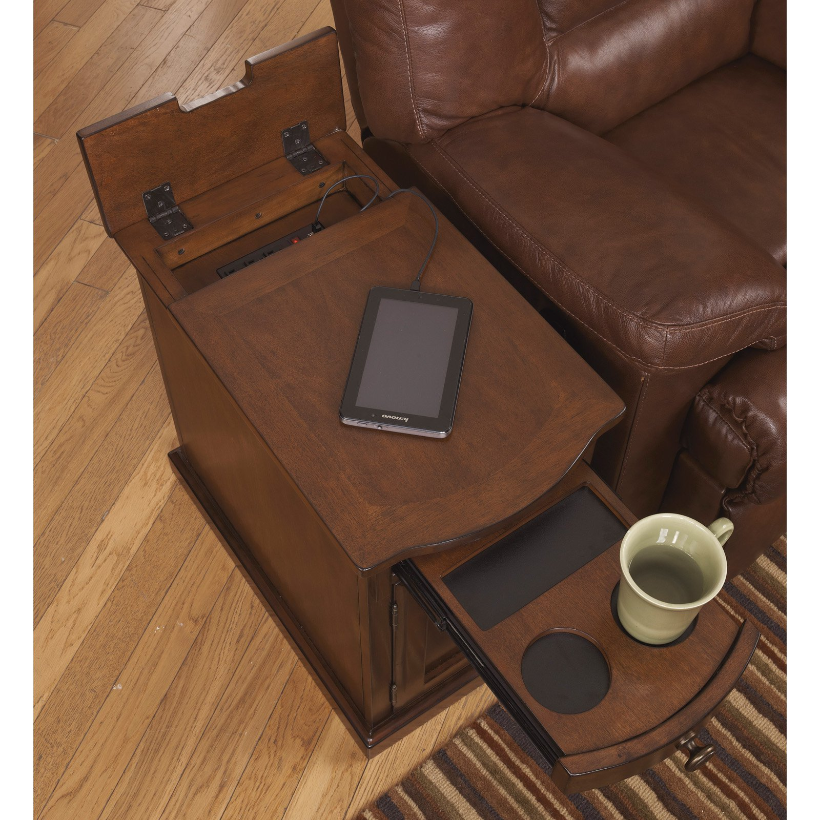 superior Ashley End Table With Power Part - 12: Signature Design by Ashley Laflorn Chair Side End Table, Multiple Colors -  Walmart.com