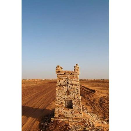 Mauritania Adrar Chinguetti Path Canvas Art - Aldo Pavan DanitaDelimont (24 x 35)