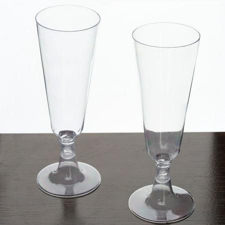 Efavormart 5oz Champagne Flutes, Plastic, 60 - Champagne Glasses For Wedding