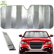 Super Jumbo Dual-Layer Reflective Bubble Design Car Truck SUV Auto Sun Shade Windshield Reflector- New Patented Thermal Material