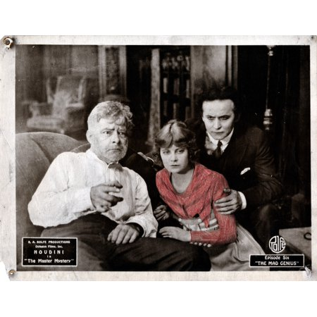 The Master Mystery From Left Jack Burns Ruth Stonehouse Harry Houdini Episode Six The Mad Genius 1919 Movie Poster Masterprint (Ruth Masters)