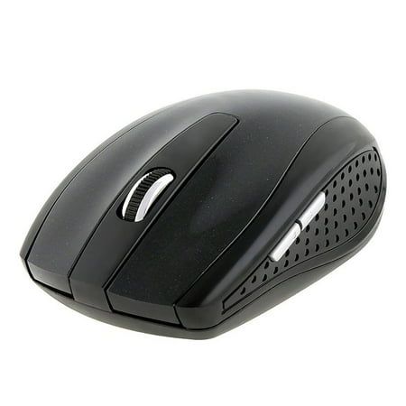 Insten Black 2.4GHz Cordless Wireless Optical Computer Mouse with 800 1200 1600 DPI - image 2 de 5