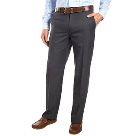 IZOD Performance 4 Way Stretch Dress Pants Straight Fit Charcoal 40W x 29L NEW