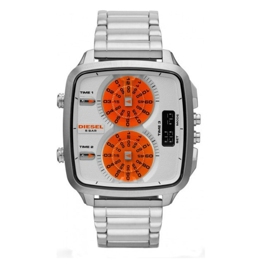 Diesel  Men's DZ7304 'Hal' Digital Orange Dial Watch