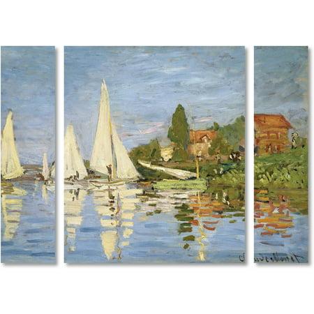Monet Regatta At Argenteuil (Trademark Fine Art