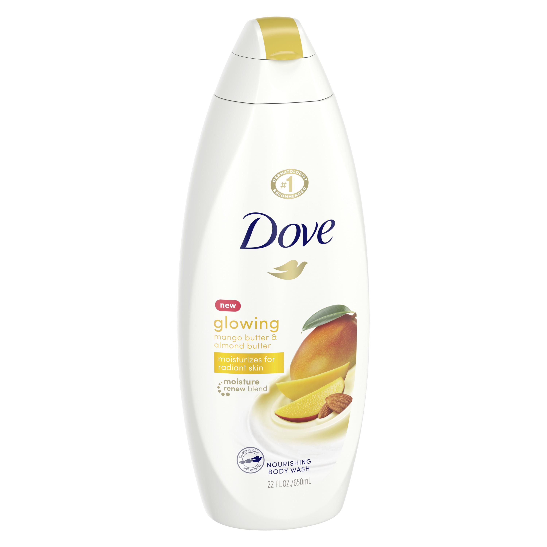 Dove Glowing Body Wash Mango Butter And Almond Butter 22 Oz Walmart Com Walmart Com