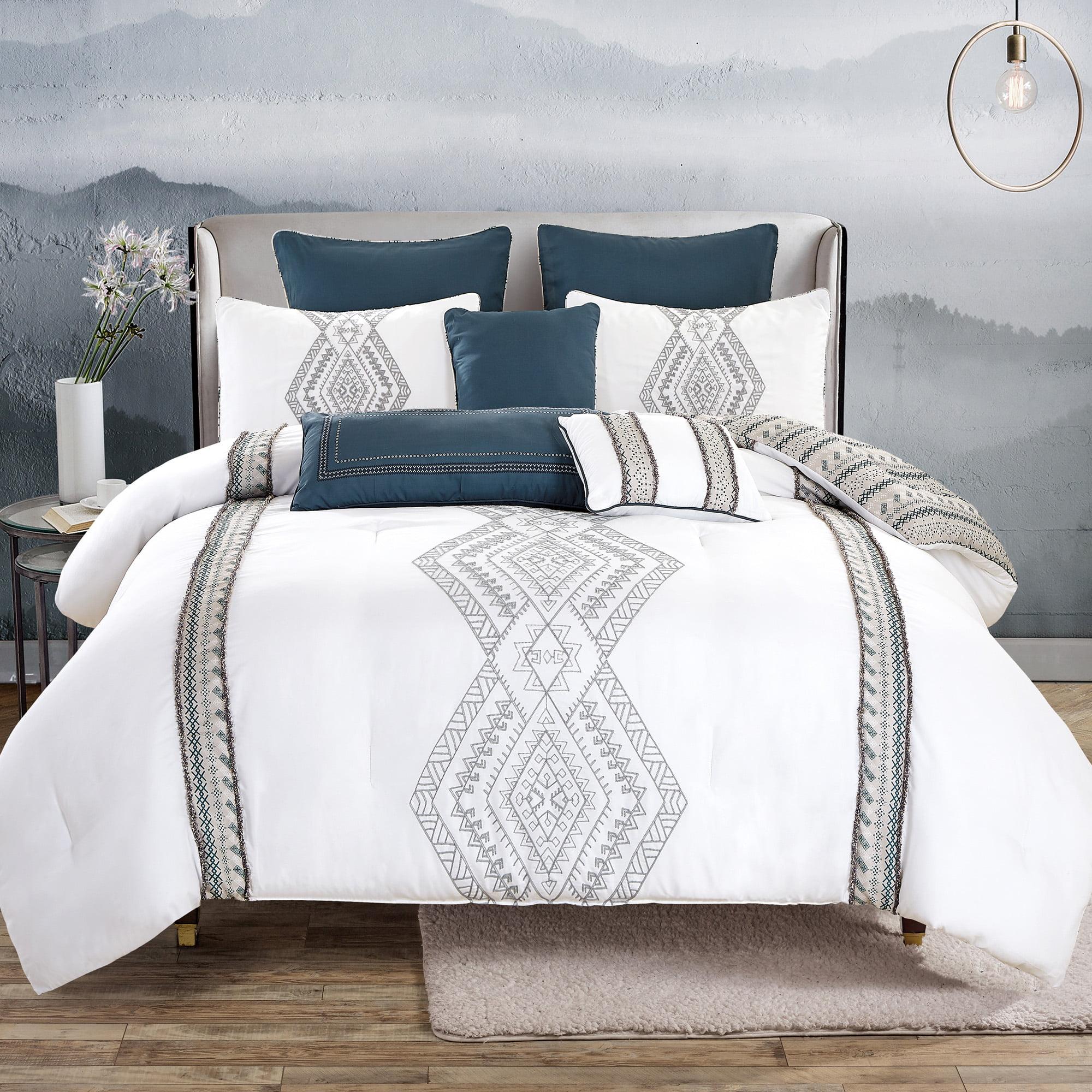 hgmart bedding comforter set bed in a bag - 8 piece luxury