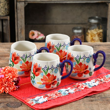 The Pioneer Woman Spring Bouquet 19oz Cups, Set of (Striking Spring Bouquet)