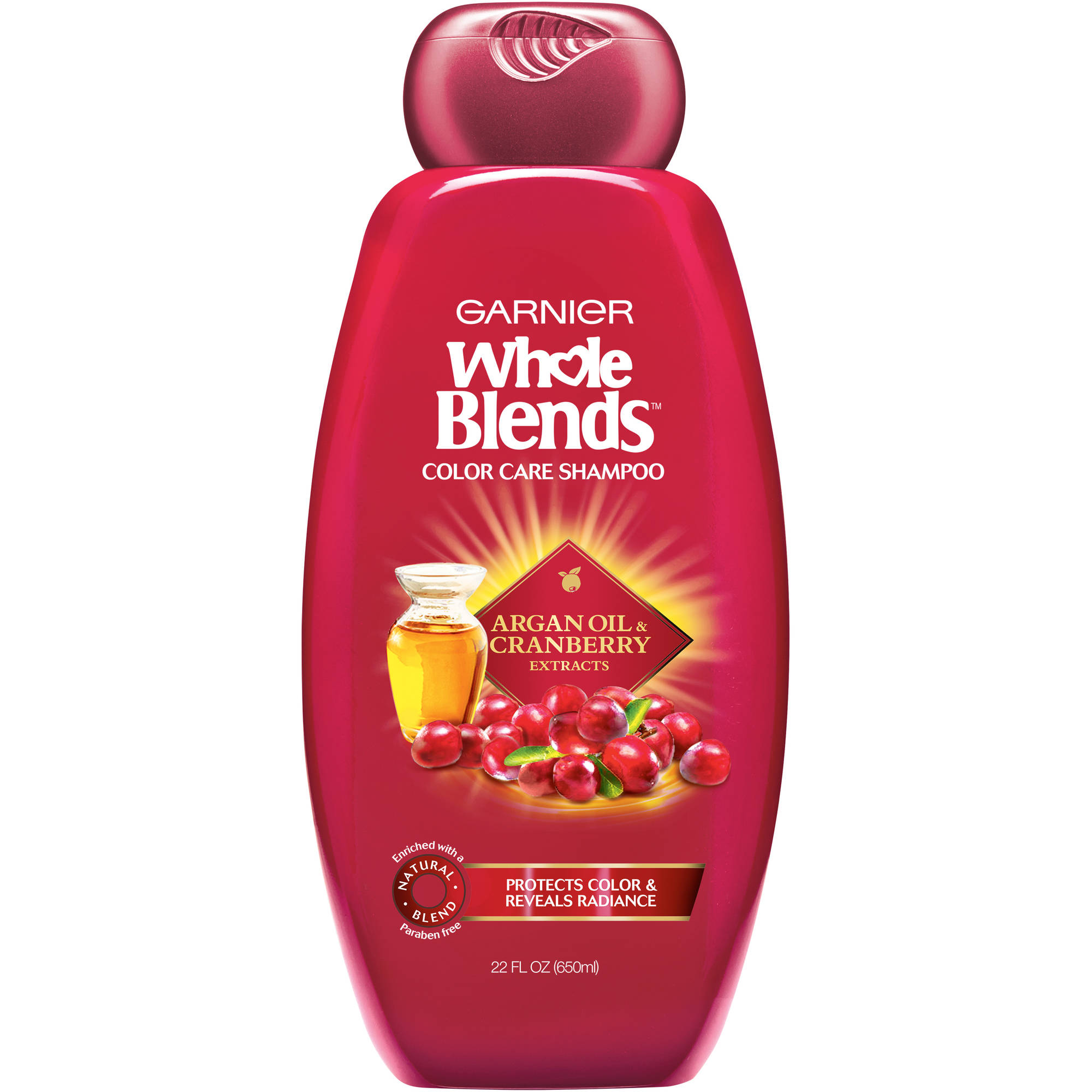 Garnier Whole Blends Argan Oil and Cranberry Extracts Color Care Shampoo, 22 fl oz