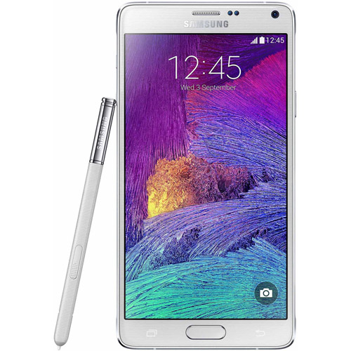 "Samsung Galaxy Note 4 - SM-N910A - Android smartphone - 4G - 32 GB + microSDXC slot - 5.7"" - 2560 x 1440 pixels - Super AMOLED - 16 Mpix - Android - AT&T - frost white"