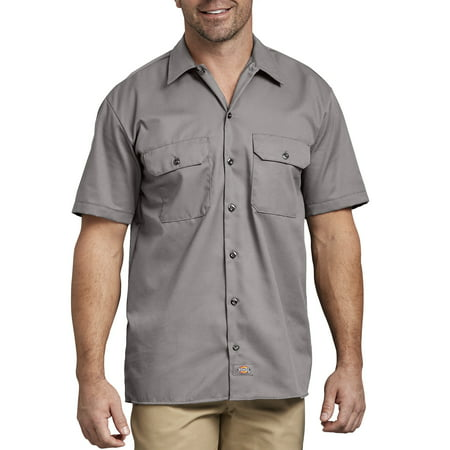 Dickies Long Sleeve Oxfords - Big Men's Short Sleeve Twill Work Shirt