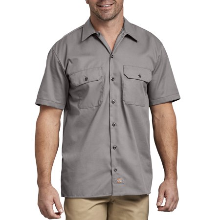 Big Men's Short Sleeve Twill Work Shirt (Mens Work Uniforms)
