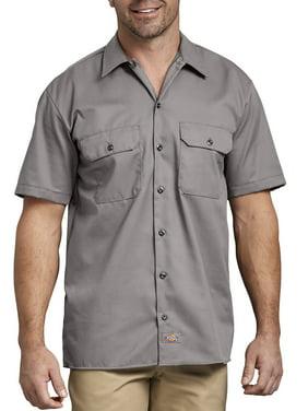 Big Men's Short Sleeve Twill Work Shirt