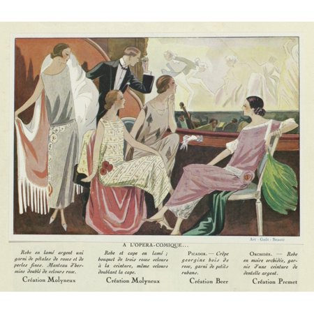 At The Comic Opera Canvas Art - (36 x 24)