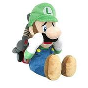 """Super Mario Bros. 10"""" Plush Scared Luigi with Ghost Vacuum"""