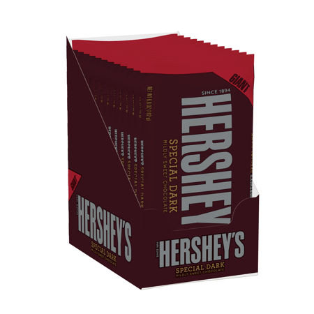 Hershey's, Holiday Special Dark Milk Chocolate Giant Bar, 6.8 Oz., 12 Count
