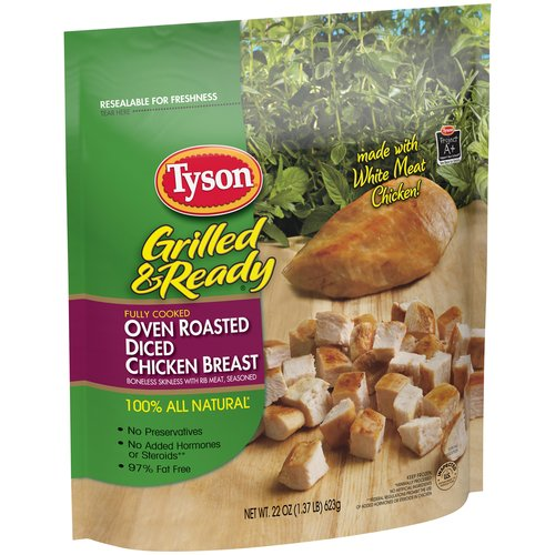 Tyson Grilled & Ready Oven Roasted Diced Chicken Breast, 22 oz