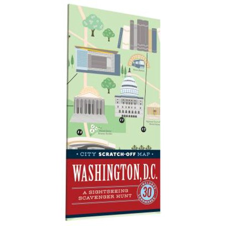 City scratch-off map: washington, d.c.: a sightseeing scavenger hunt: