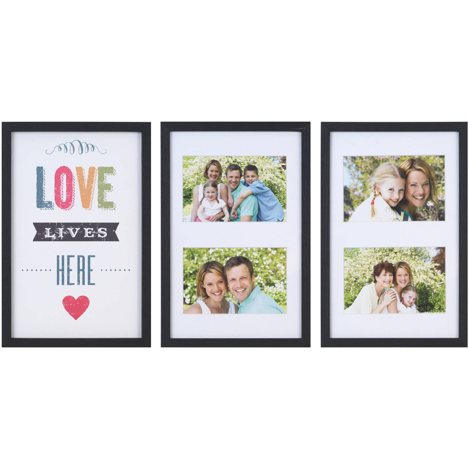 Melannco 4-Opening Love Lives Here Collages, Set of 3