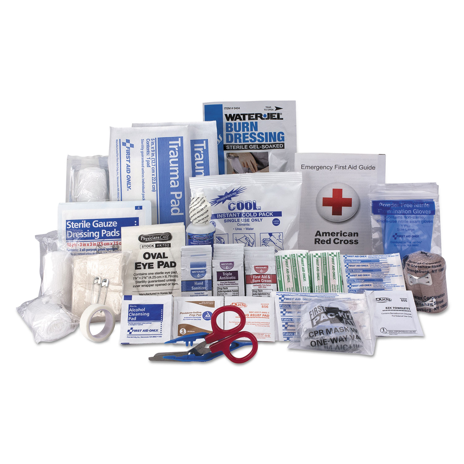 50 Person ANSI A+ First Aid Kit Refill, 183 Pieces by First Aid Only