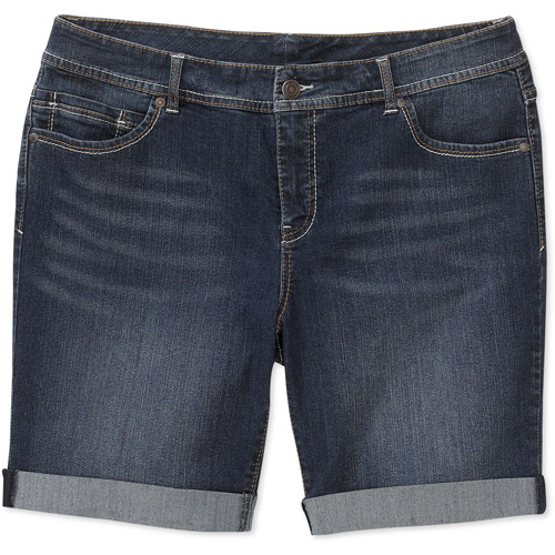 Faded Glory - Women's Plus-Size Classic 5-Pocket Bermuda Shorts