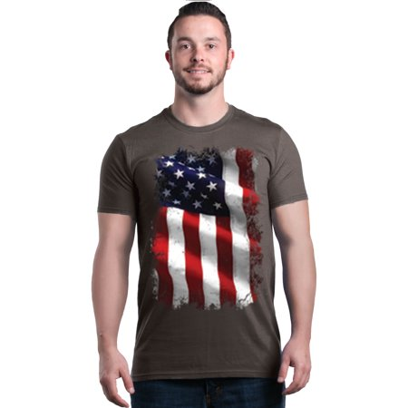 Shop4Ever Men's Patriotic American Flag 4th of July USA Graphic T-shirt ()