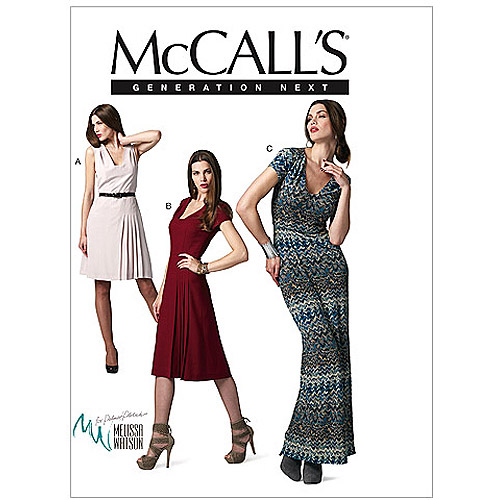 McCall's Pattern Misses' Dresses in 3 Lengths, DD (12, 14, 16, 18)