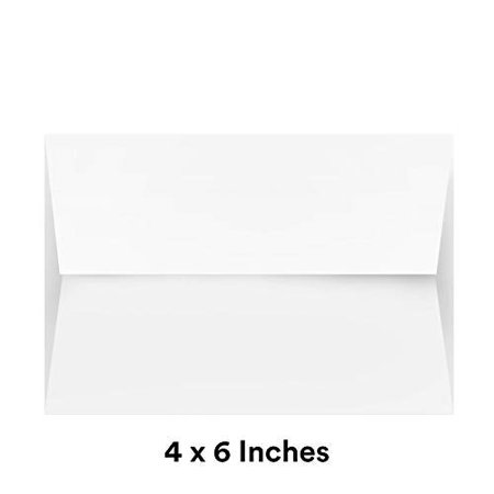 White Square Flapped Invitation Envelopes - Perfect for Weddings, Party Invites, Thank You, Greeting, and Holiday Cards, Baby Showers, Photos, Postcards | 250 Per Pack (A2-4 3/8