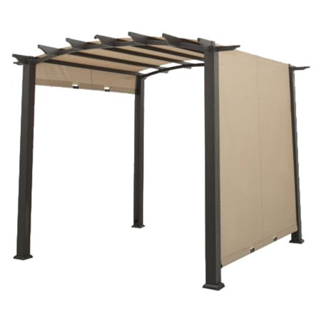 Garden Winds Replacement Canopy Top Cover for Arched Pergola with SLIDING CANOPY - RipLock 350 ()