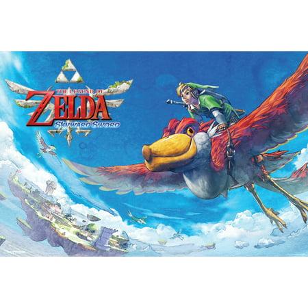 Zelda Skyward Sword Flying Poster   18X12