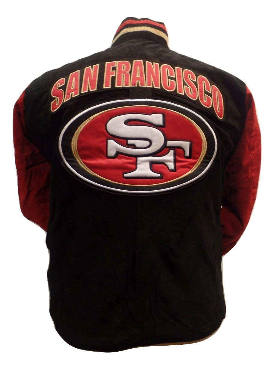 7cbe6f6c7 San Francisco Football Forty-Niners Black Two-Tone Suede Jacket ...