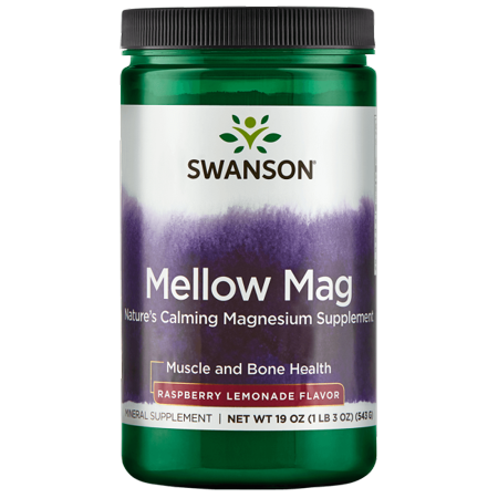 Swanson Mellow Mag - Raspberry Lemonade 330 mg 19 oz Pwdr ()