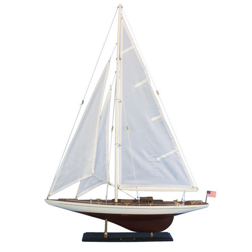 Handcrafted Nautical Decor Ranger 35'' Wooden Model Sailboat by Handcrafted Model Ships