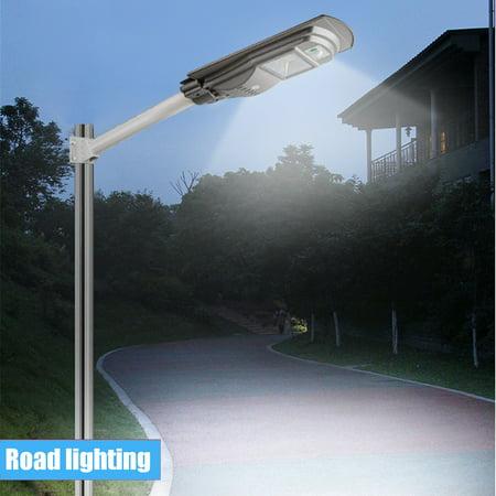 Led Parking Lot Light Dusk To Dawn Polycrystalline Led Solar Street Light Rada R Induction Pir Motion Auto Sensor Commercial Street Area Lighting