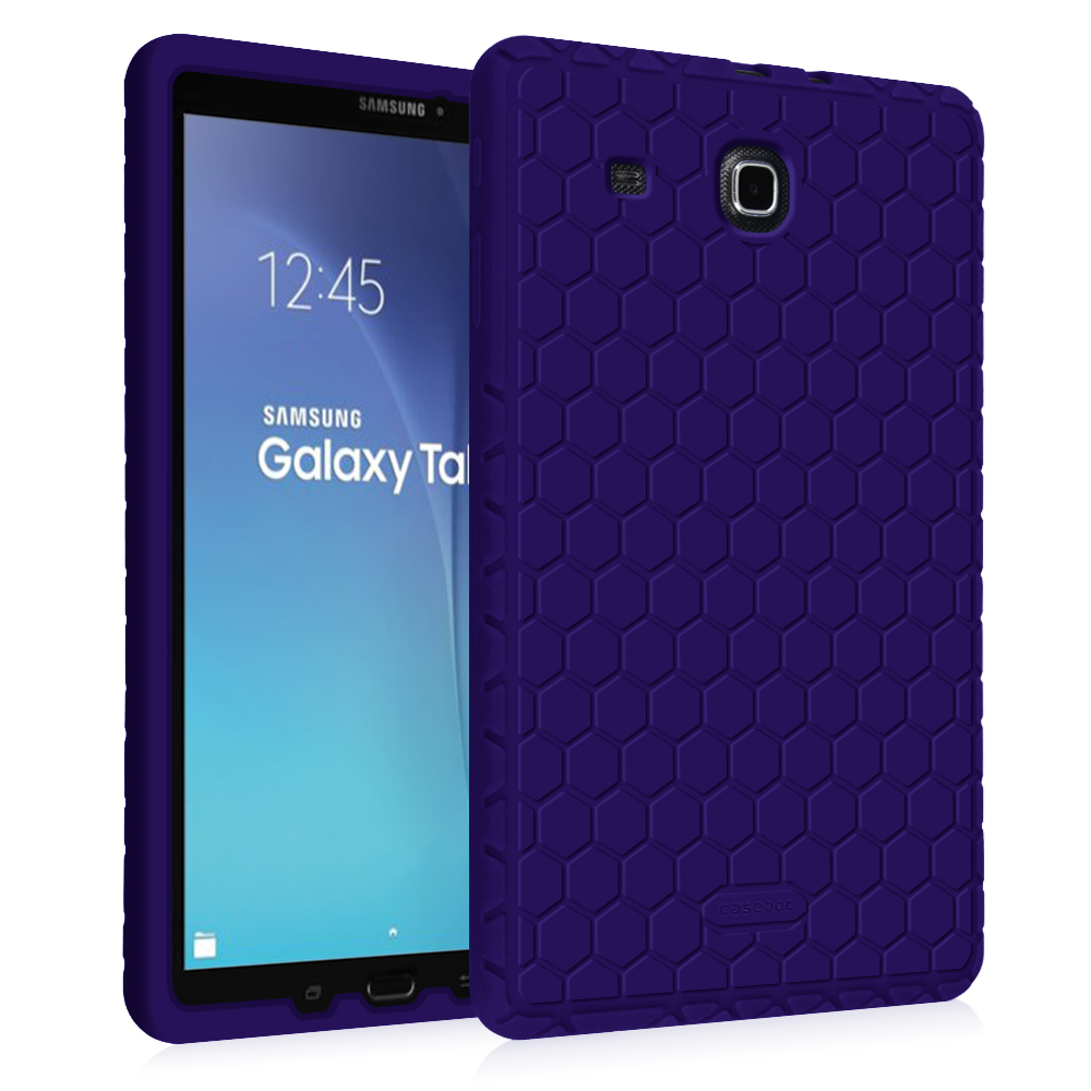 Fintie Samsung Galaxy Tab E 9.6 / Tab E Nook 9.6 Tablet Silicone Case Lightweight Shockproof Cover, Navy