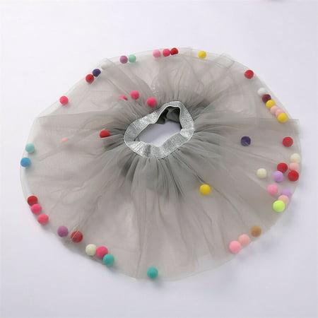 Baby Girls Kids Tutu Skirt Tulle Dance Ballet Dress Toddler Rainbow Bow Costume](Costume Tulle Skirt)
