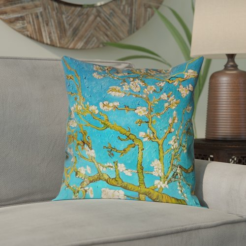 Bloomsbury Market Lei Almond Blossom Double Sided Print  Pillow Cover with Concealed Zipper