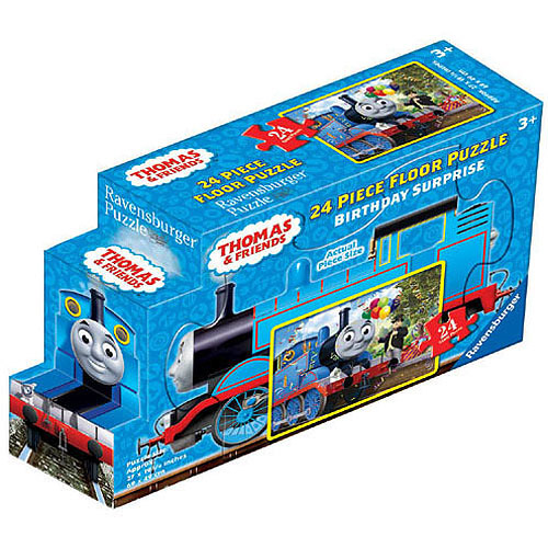 Ravensburger Thomas and Friends: Birthday Surprise Floor Puzzle in a Shaped Box, 24 Pieces