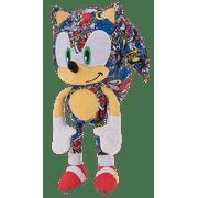 "Sonic the Hedgehog  Sticker Bomb Plush Large Plush 12"" New Licensed SEGA"
