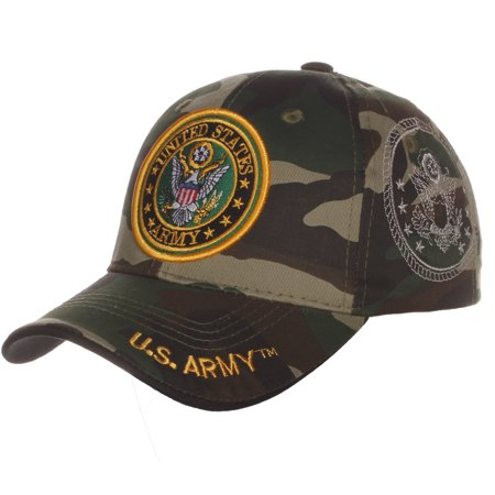US Army Official License Structured Front Side Back and Visor Embroidered