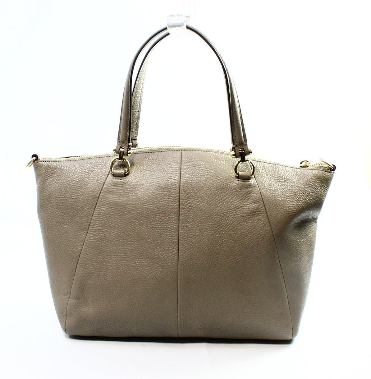 6adad4c63ca5 Coach - Coach NEW Gray Fog Gold Leather Zip Top Prairie Satchel Bag Purse   275- 061 - Walmart.com