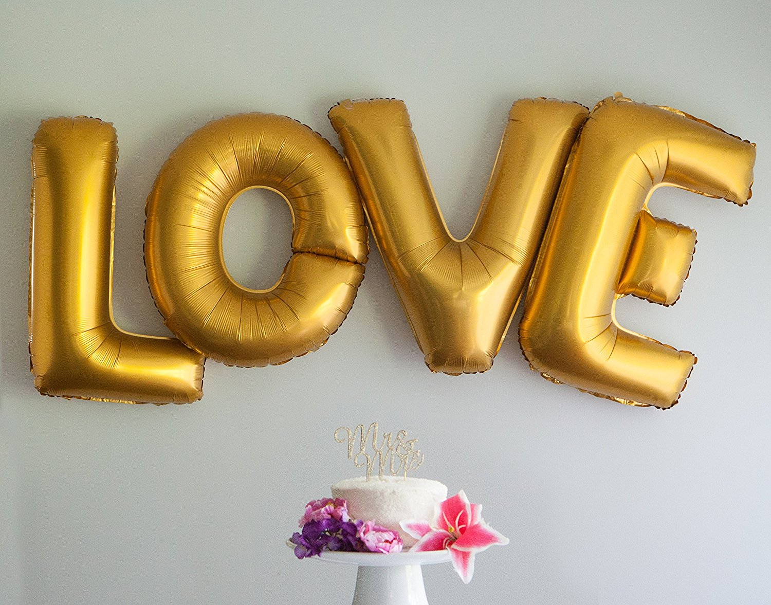 Love Letters Balloons 40 Inch Large Letter Foil Wedding Party
