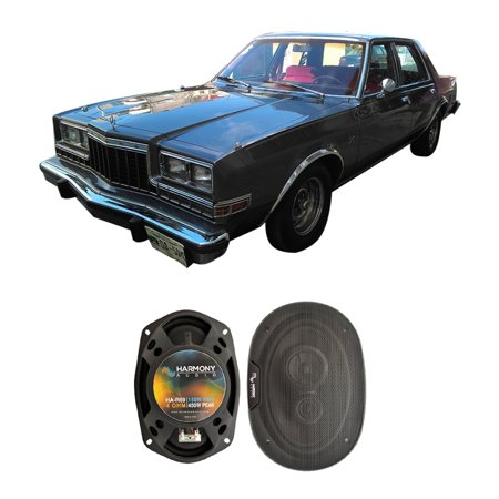 fits dodge diplomat 1980-1983 rear deck replacement harmony ha-r69 speakers  new - walmart com