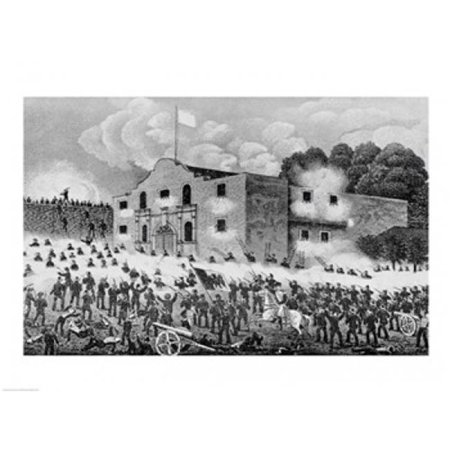 Posterazzi BALBAL111652 The Siege of The Alamo Poster Print - 24 x 18 in. - image 1 de 1