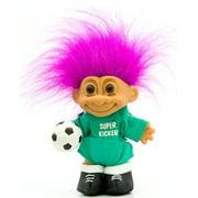Russ Berrie My Lucky Super Kicker 6 Soccer Troll Doll Fushia Hair