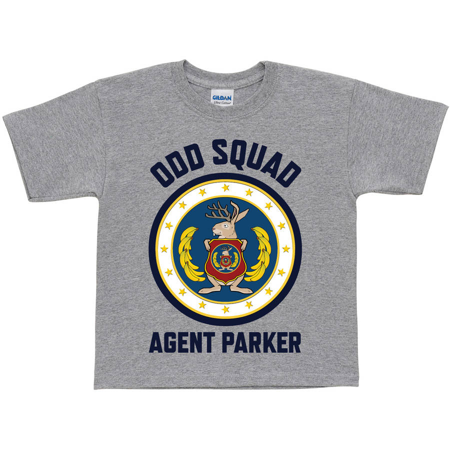 Personalized Odd Squad Agent Gray Toddler Boy T-Shirt