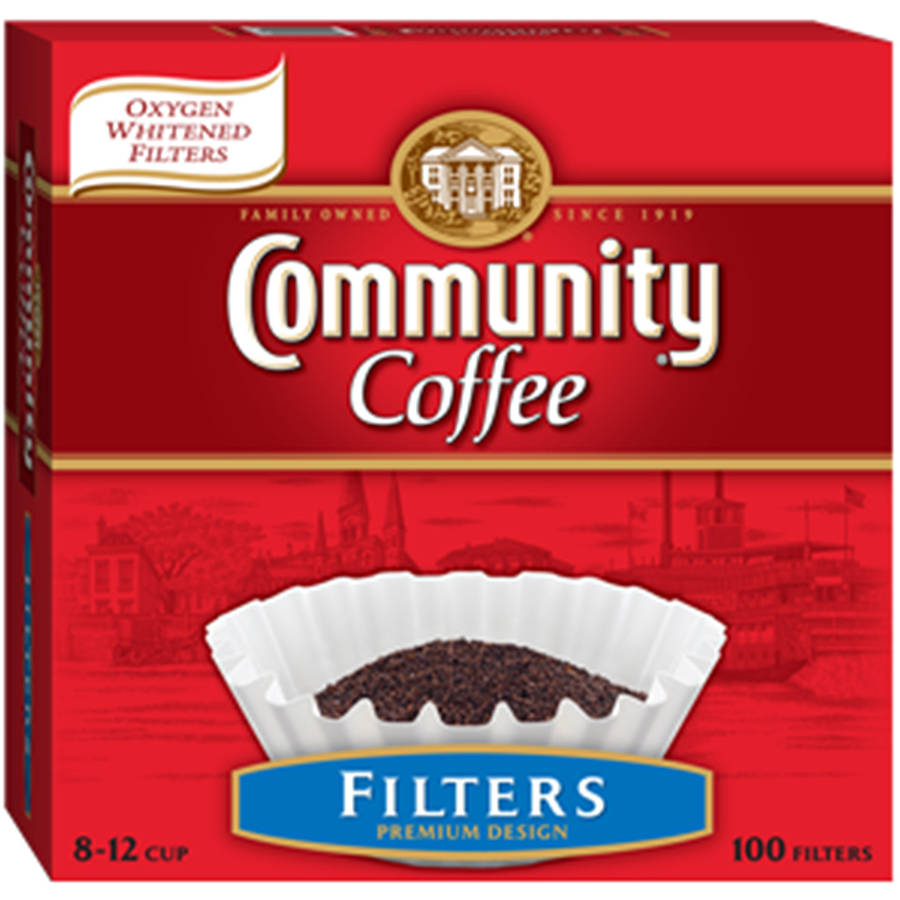 Community Oxygen Whitened Premium Design Coffee Filters, 100ct
